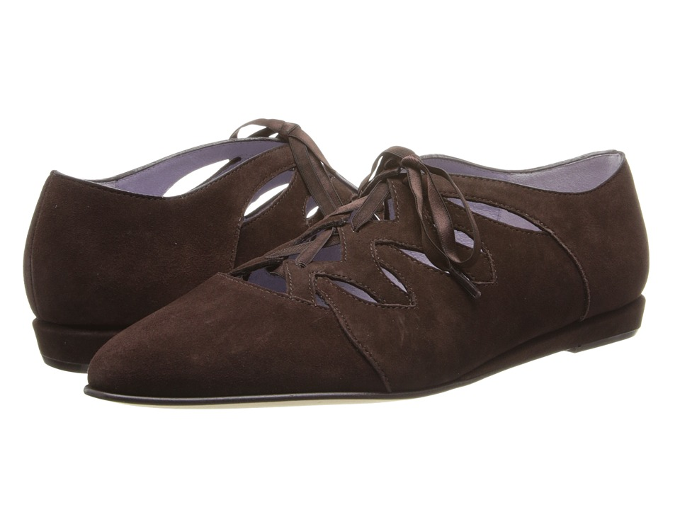 Johnston & Murphy Jade Ghillie (Dark Chocolate Suede) Women's Shoes