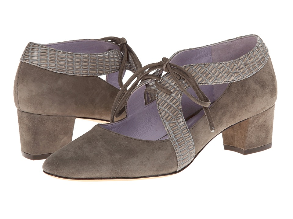 Johnston & Murphy Brylee Ghillie (Fawn Suede/Iguana) Women's Shoes