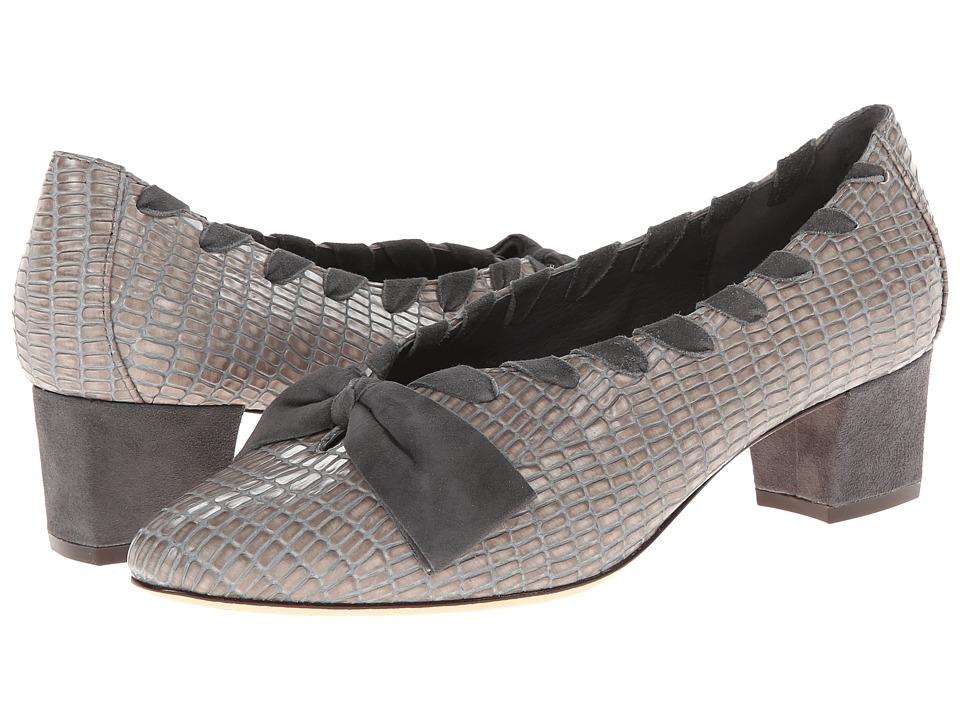 Johnston & Murphy Brylee Bow Pump (Fawn Iguana/Suede) High Heels