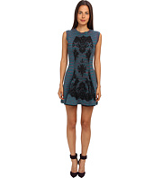 M Missoni - Spacedye Doubleknit w/ Lace Overlay Dress
