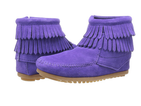 Minnetonka Kids Double Fringe Side Zip (Toddler/Little Kid/Big Kid)