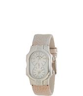Philip Stein - Small Signature Sport Diamond Stainless Steel Watch on Champagne Ostrich Strap
