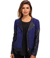 Rebecca Taylor - Quilted Floral Jacket w/ Leather