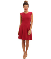 Rebecca Taylor - Sleeveless Text Ponte Dress