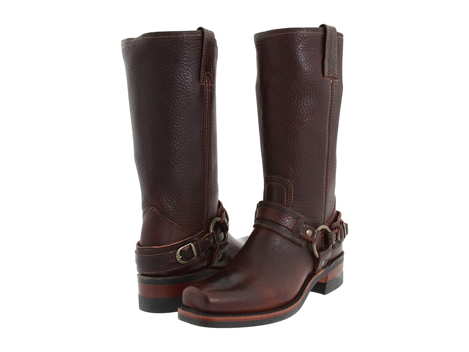 Frye - Belted Harness 12R (Distressed Chestnut Leather) Womens Boots