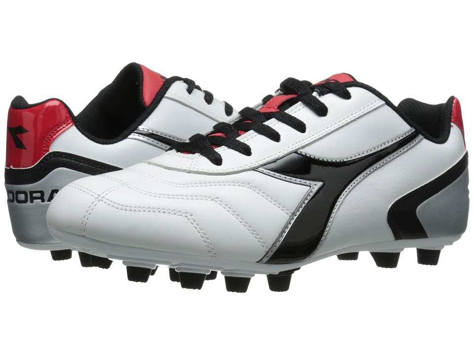 Diadora Capitano LT MD PU (White/Black/Red) Men