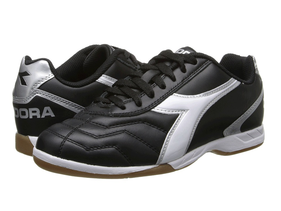 Diadora Capitano LT ID Black/White/Silver Mens Shoes