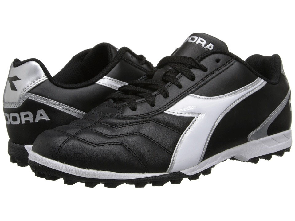 Diadora - Capitano LT TF (Black/White/Silver) Mens Shoes