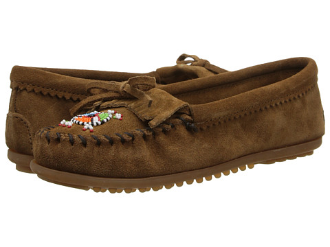 Minnetonka Me To We Maasai Mocs - Dusty Brown