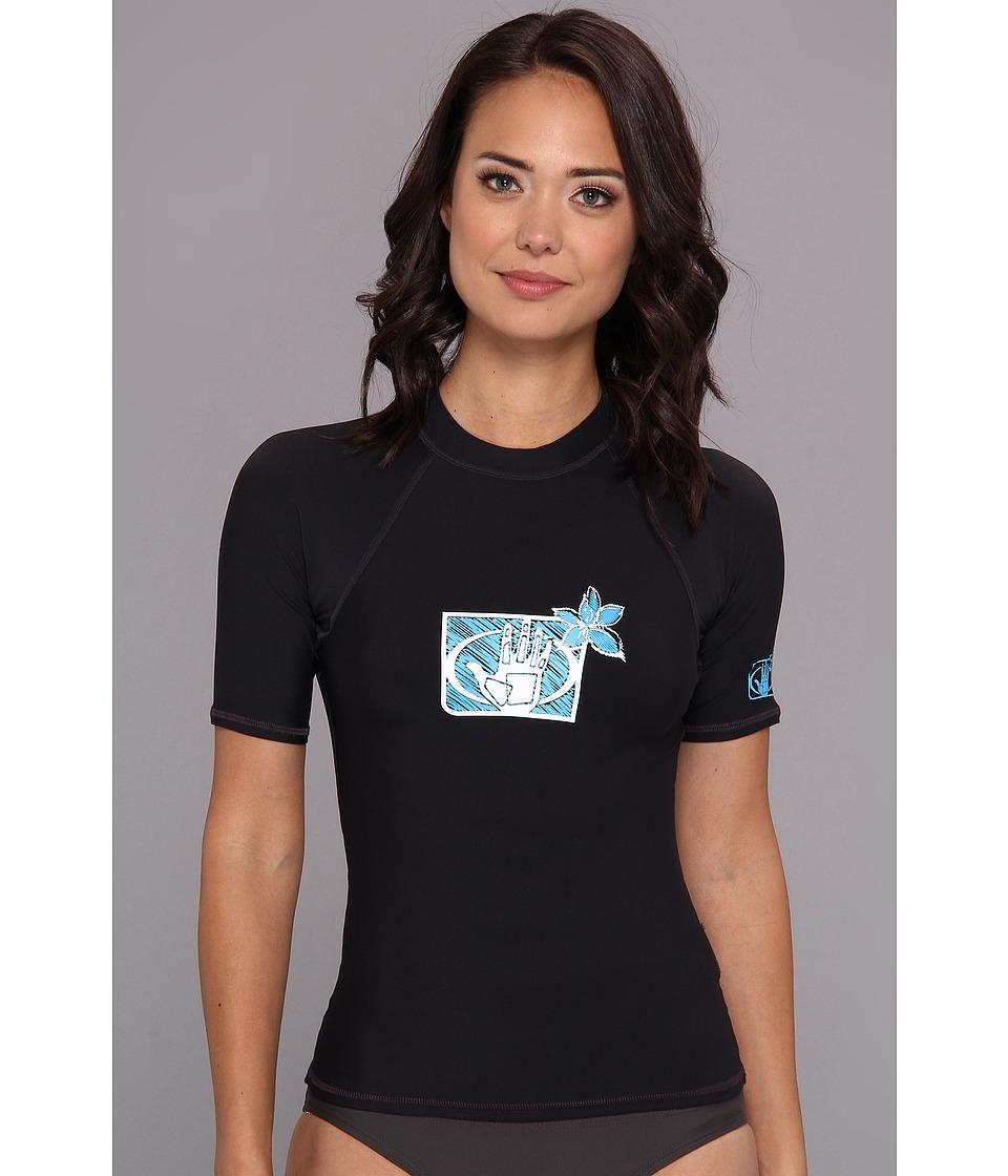 Body Glove Basic S/A Rashguard (Black) Women's Swimwear