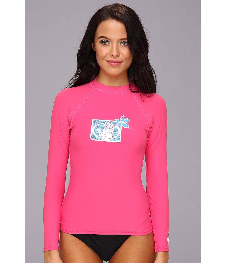 Body Glove Basic L/A Rashguard (Pink) Women's Swimwear