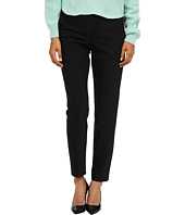 tibi - Tropical Wool Wrap Over Combo Pants w/ Leather Yoke & Back Ankle Zip