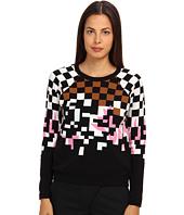 tibi - Plaited Jacquard Sweater Raglan Sleeve Jacquard Pullover
