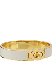 COACH - Half Inch Hinged Leather Turnlock Bangle
