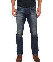 Buffalo David Bitton - Six Slim Straight Sheeba Stretch Denim in Dirty/Deeply Sanded