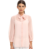 McQ - Georgette Pussy Bow Shirt