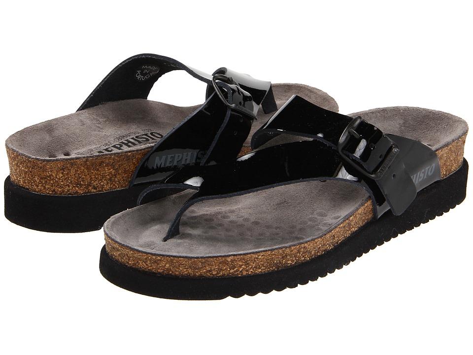 Mephisto Helen (Black Patent) Sandals