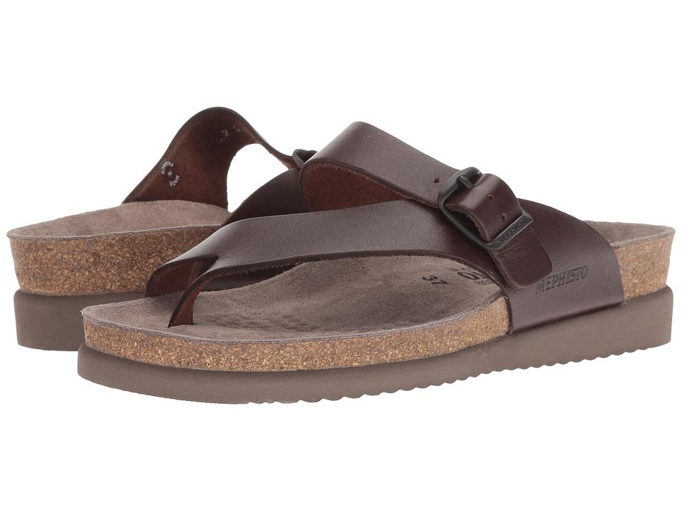 Mephisto Helen (Dark Brown Waxy Leather) Sandals