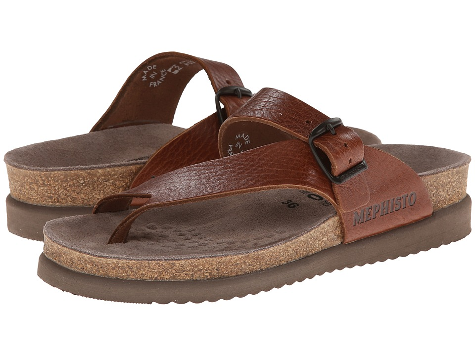 Mephisto Helen Desert Buffalo Leather Tan Grain Womens Sandals