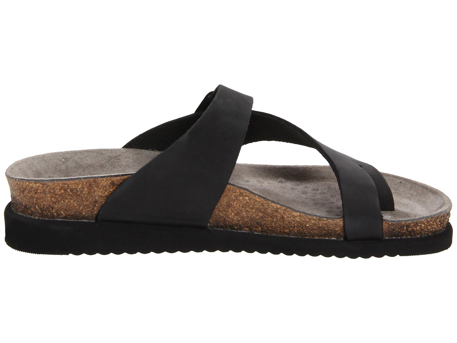 Shoes Mephisto Black Patent Sandals Helen