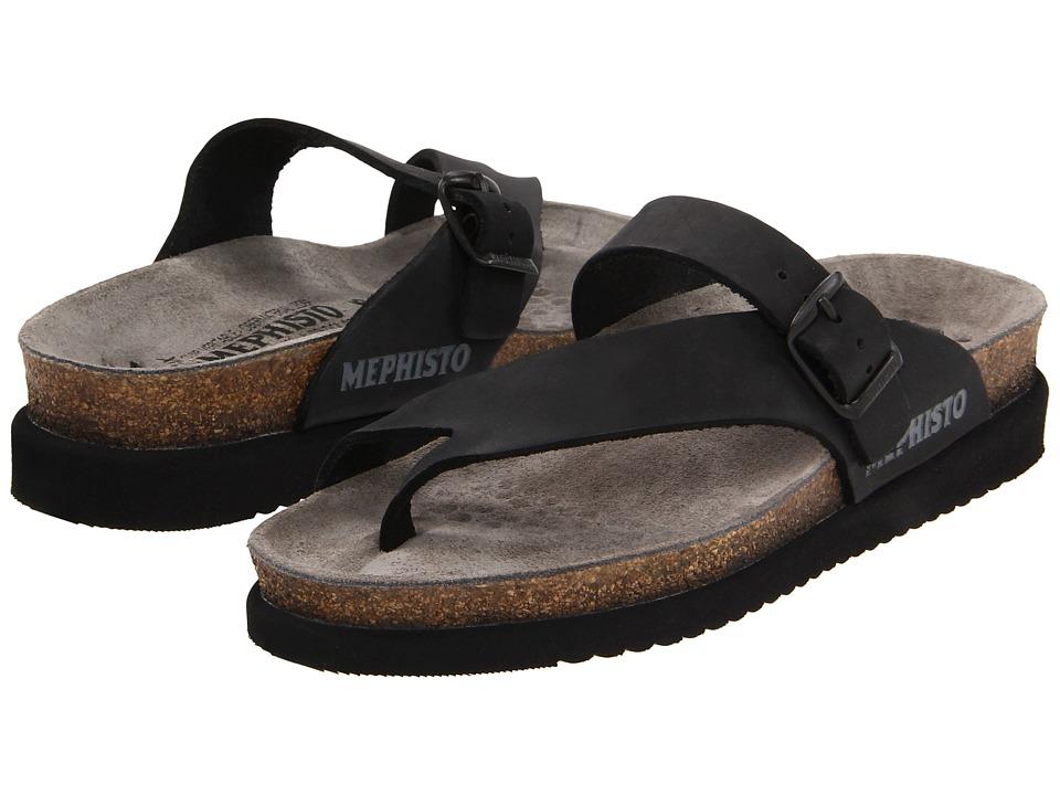 Mephisto Helen (Black Nubuck) Sandals