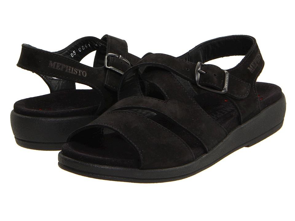 Mephisto - Altina (Black Nubuck) Women's Sandals