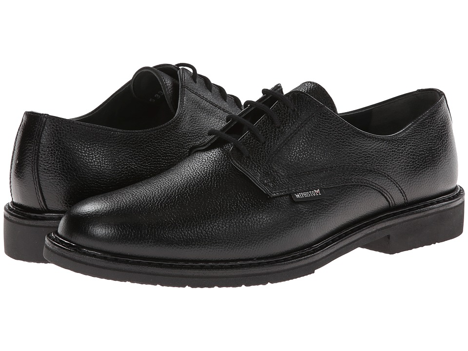Mephisto - Marlon (Black Pebble Grain Leather) Mens Plain Toe Shoes
