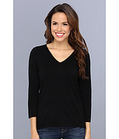 Jones New York - 3 Quarter Sleeve V-Neck Pullover