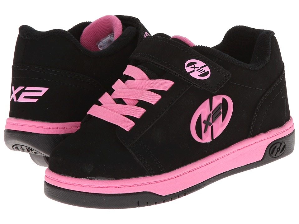 Heelys Dual Up X2 (Little Kid/Big Kid/Adult) (Black/Pink) Girls Shoes