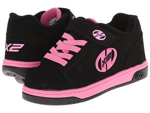 Heelys Dual Up X2 (Little Kid/Big Kid/Adult) - Black/Pink