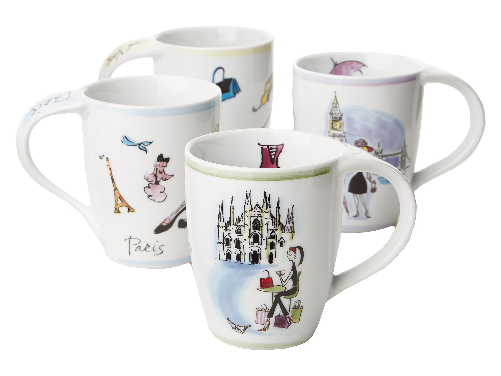 Waechtersbach Fashion Collection Mugs Set Of 4 Shipped