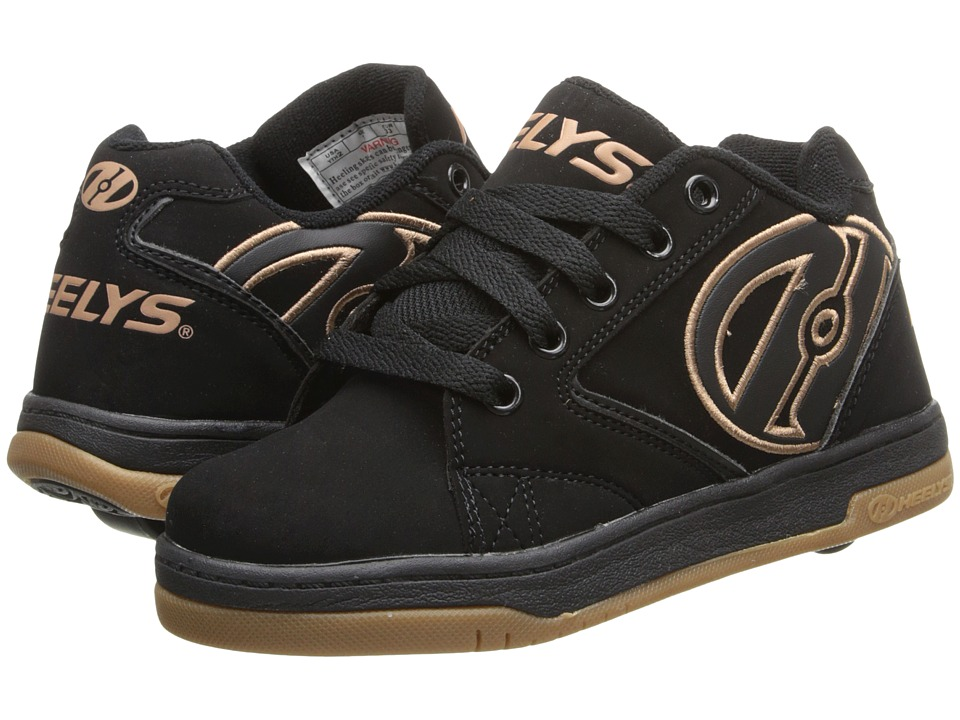 Heelys Propel 2.0 (Little Kid/Big Kid/Adult) (Black/Gum) Boys Shoes