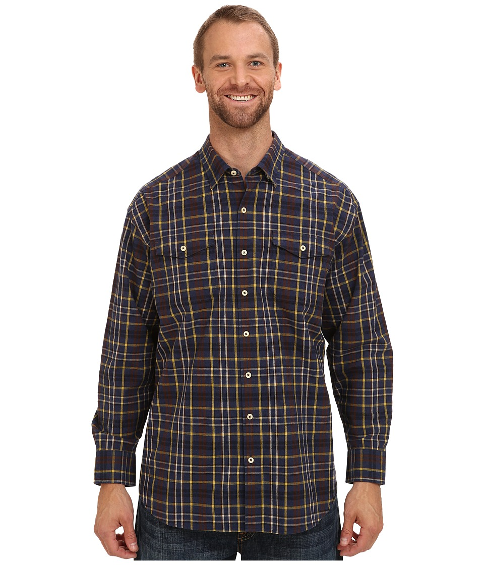 Tommy Bahama Big amp Tall Big Tall Calistoga Check L/S Shirt Navy Mens Long Sleeve Button Up
