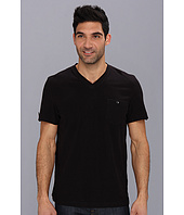 Kenneth Cole - Woven Trim V-Neck Knit