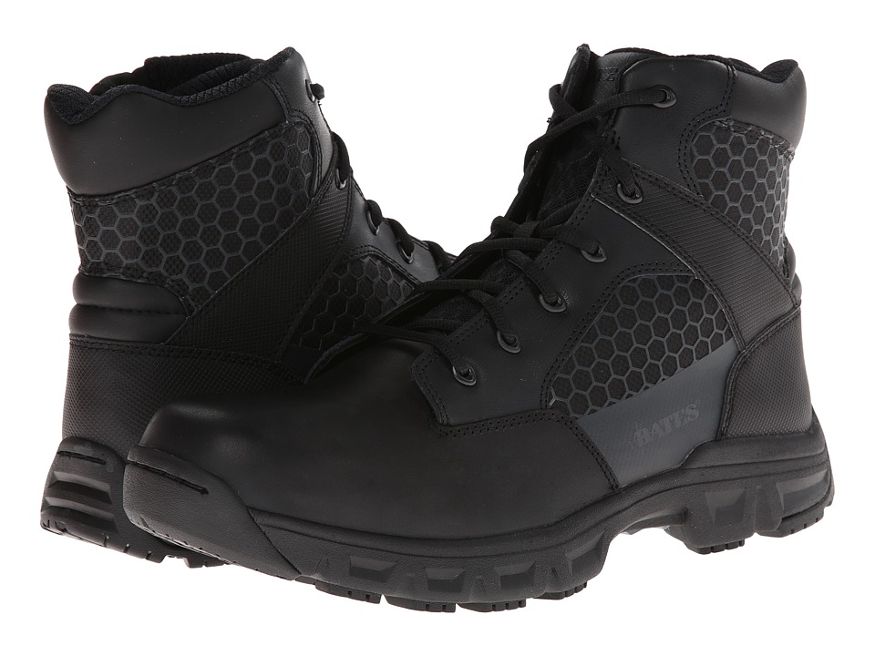 Bates Footwear Code 6 6 Side Zip Black Mens Work Boots