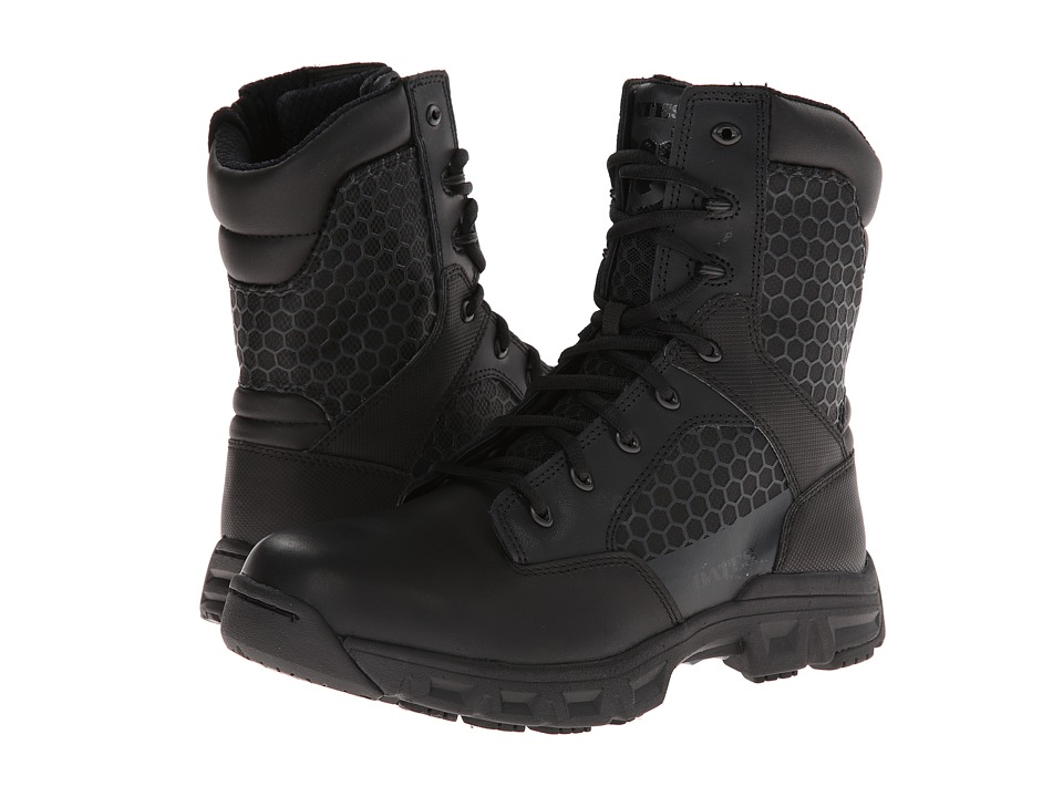Bates Footwear Code 6 8 Side Zip Black Mens Work Boots