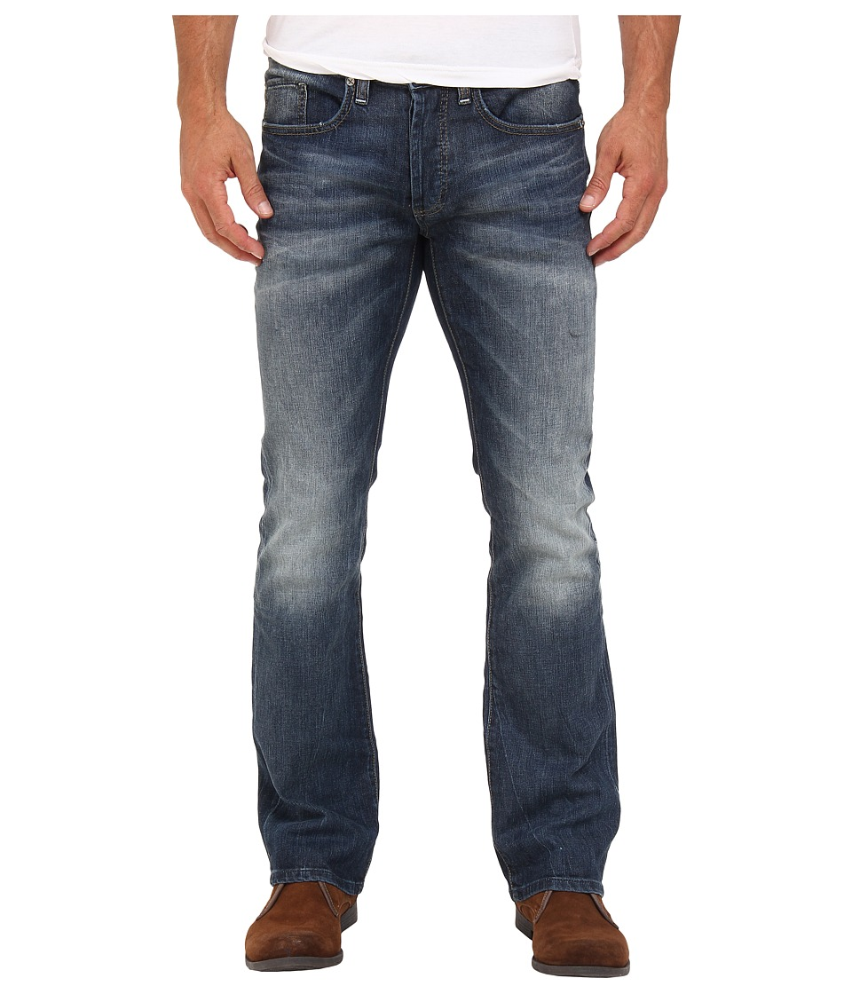 Buffalo David Bitton King Slim Boot Sheeba Stretch Denim in Light/Blasted Wash Light/Blasted Wash Mens Jeans