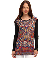 Just Cavalli - Contrast Printed Long Sleeve Top