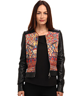 Just Cavalli - Faux Leather Jacket with Print Detail