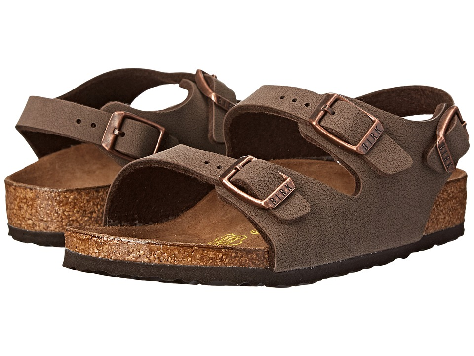 Birkenstock Kids Roma (Toddler/Little Kid/Big Kid) (Mocha Birkibuc) Girls Shoes