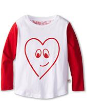 Stella McCartney Kids - New Barley Girls Raglan Tee w/ Heart (Toddler/Little Kids/Big Kids)