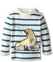 Stella McCartney Kids - Ted Baby L/S Stripe Tee w/ Polar Bear (Infant)
