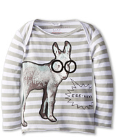 Stella McCartney Kids - Buster Baby Stripe L/S Tee w/ Donkey (Infant)