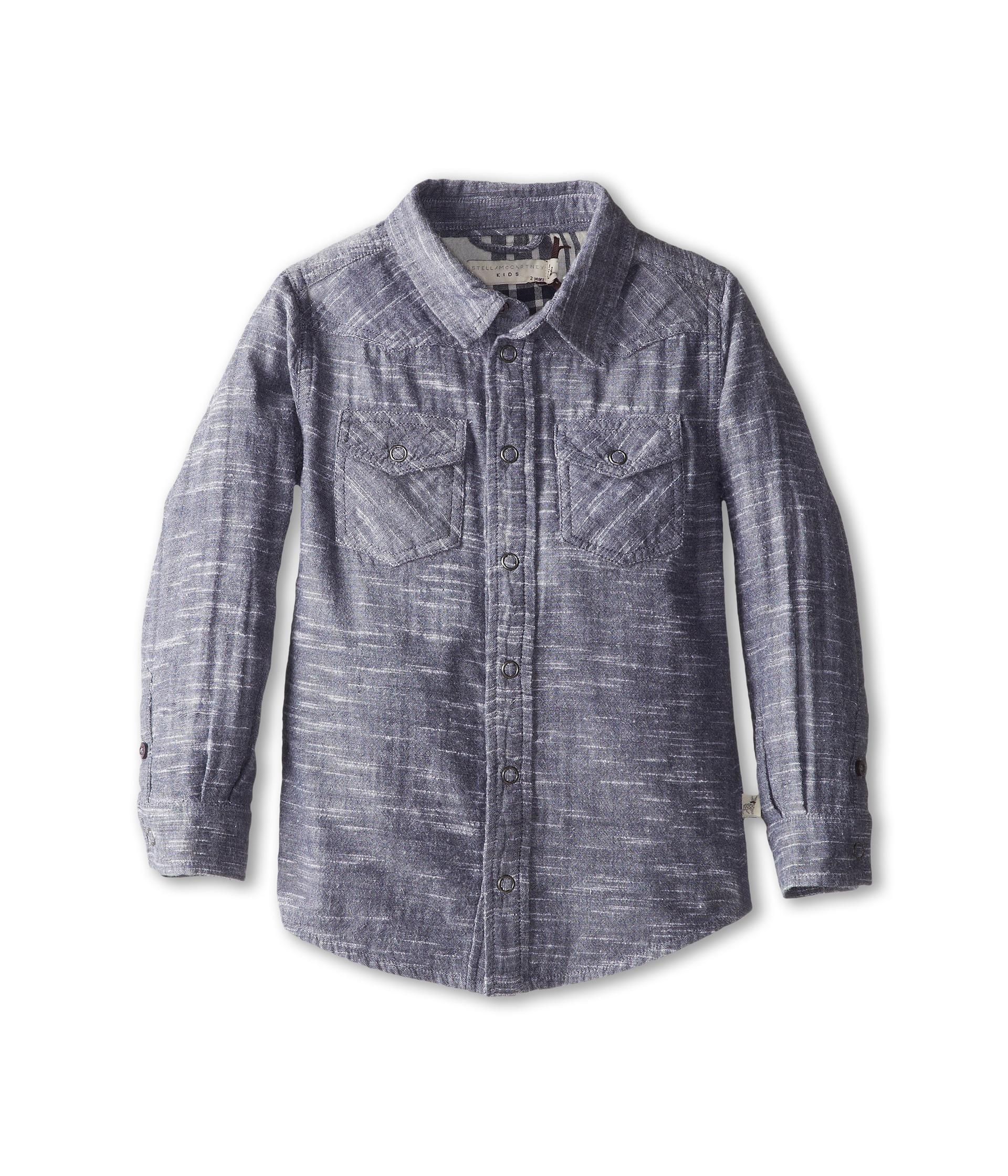 Stella mccartney kids alasdhair boys chambray button down for Chambray shirt for kids