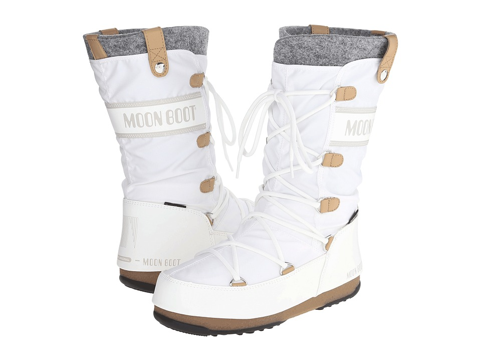 Tecnica - Moon Boot Monaco Felt (White) Women