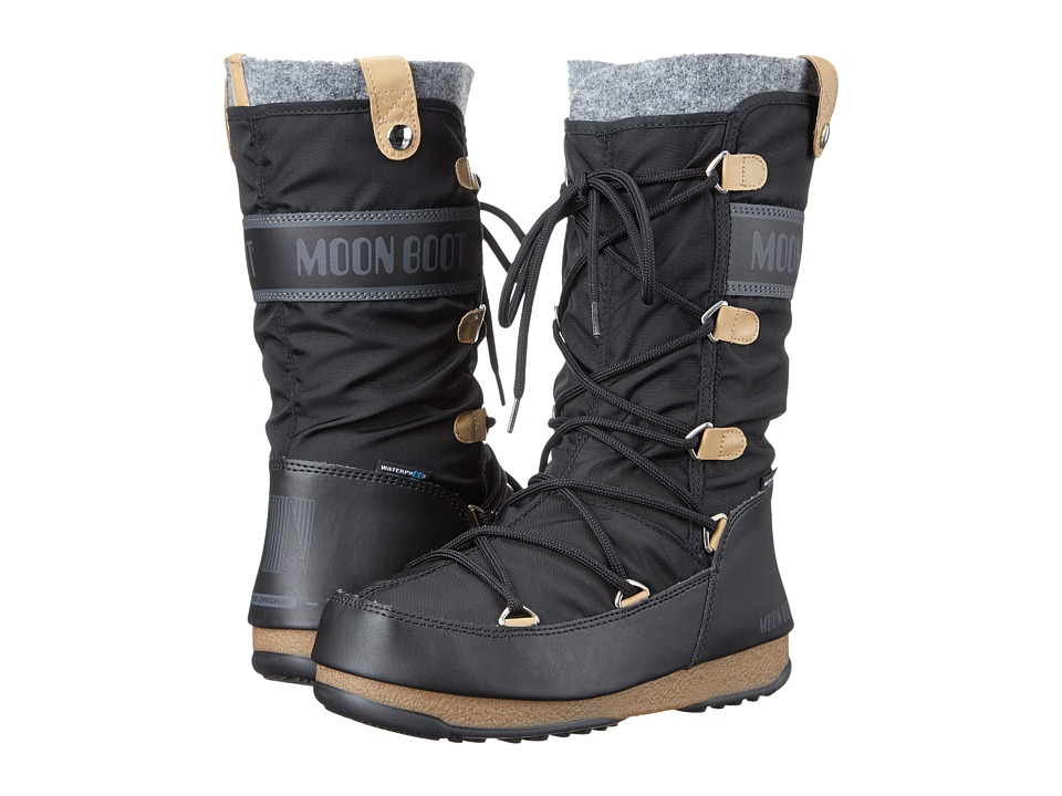 Tecnica - Moon Boot(r) Monaco Felt (Black) Womens Cold Weather Boots