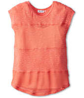 Splendid Littles - Solid Texture Loose Knit Mix S/S Top (Big Kids)
