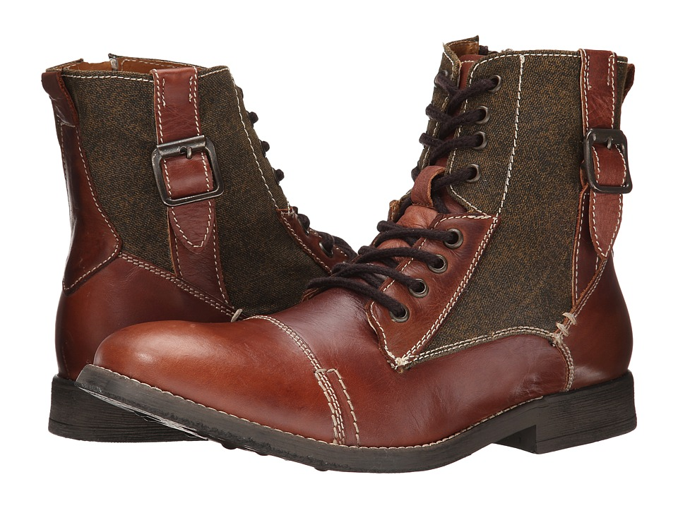 Steve Madden Fragment Tan Leather Mens Lace up Boots