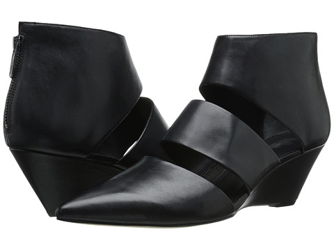 Shop Belle by Sigerson Morrison online and buy Belle by Sigerson Morrison Wagner Black Leather Footwear - Zappos.com is proud to offer the Belle by Sigerson Morrison - Wagner (Black Leather) - Footwear: Exhilarate your look with the bewitching Wagner booties from Belle by Sigerson Morrison! ; Leather upper. ; Back-zip closure. ; Pointed-toe. ; Cutout silhouette with covered vamp. ; Leather lining. ; Lightly padded leather footbed. ; Wrapped wedge. ; Leather outsole. ; Made in Italy. Measurements: ; Heel Height: 2 1 2 in ; Weight: 8 oz ; Circumference: 9 in ; Shaft: 4 in ; Product measurements were taken using size 7.5, width M. Please note that measurements may vary by size.