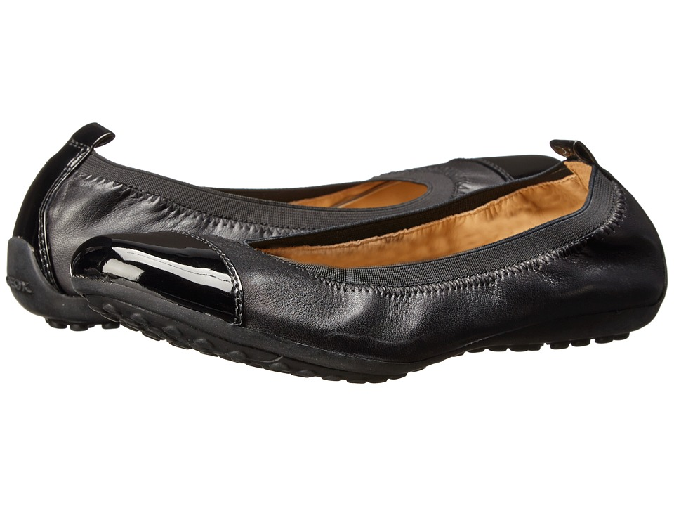 Geox - Donna Piuma Ballerina 34 (Black) Women's Dress Flat Shoes